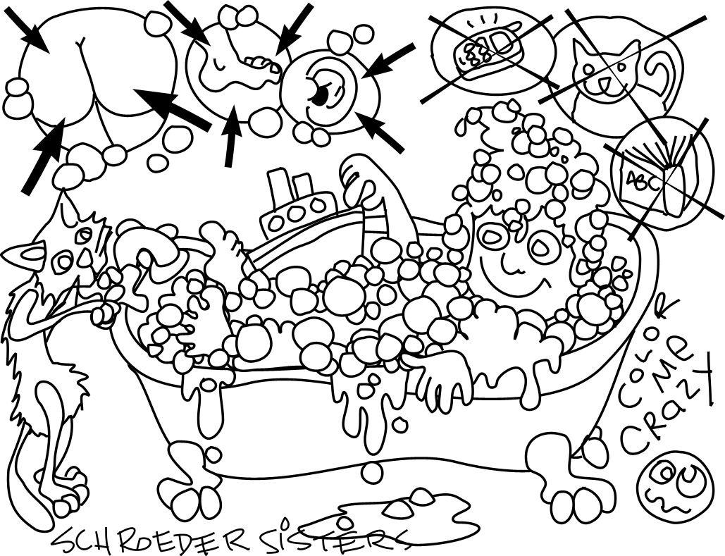 l bath time coloring pages - photo #33